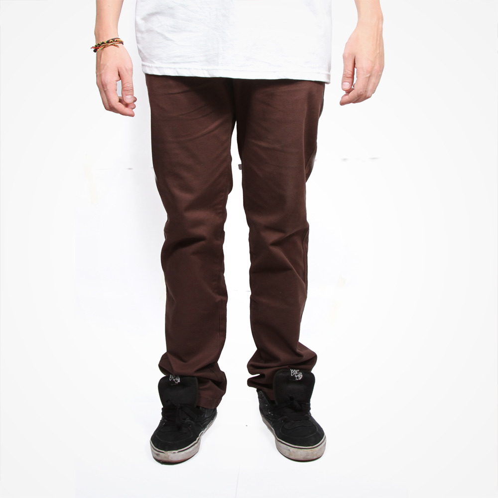Dishonour Clique Slim Chino - Chocolate Brown